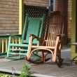 Rocking Chairs on a Victorian Porch House — Stock Photo