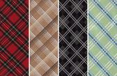 Plaids Textile Swatches — Stock Photo