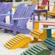 Stock Photo: Colorful Chairs on the Beach