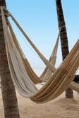 Vides hamacs sur la plage — Photo