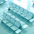 Empty seats at the airport - Stock Photo