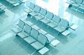Empty seats at the airport — Stock Photo
