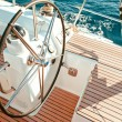 Stock Photo: Sailboat cockpit