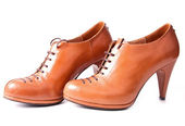 Two brown womanish boot — Stock Photo