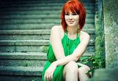 Redheaded girl — Stock Photo