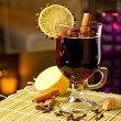 Grog with cinnamon and lemon — Stock Photo