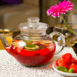 Strawberry tea — Stock Photo