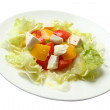 Stock Photo: Salad with cheese by feta