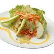 Salad with a carrot, apples and carom - ストック写真