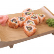 Set of sushi with caviar — Stock Photo