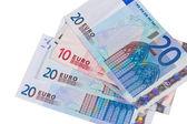 Euro money on white — Stock Photo