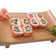 Set of sushi with salmon and cucumber - Stock Photo