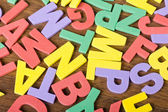 Letters of different colors — Stock Photo