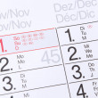 Stock Photo: Calendar background
