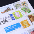 Stamps different countries — Stock Photo