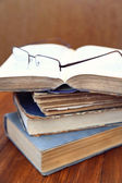 Glasses and book — Stock Photo