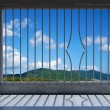 Prison windows wirh broken bar — Stock Photo #16661091