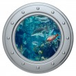 Porthole on a white background — Stock Photo
