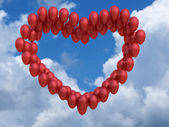 Balloons on the sky background — Stock Photo