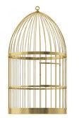 Birdcage on a white background — Stock Photo