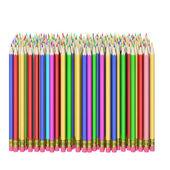 карандаши на белом фоне — Стоковое фото