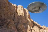 Ufo in the rocks — Stock Photo
