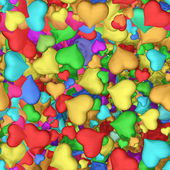 Seamless texture of hearts — Stock Photo