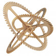 Gears on a white background — Stock Photo