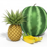 Watermelon on a white background — Stock Photo