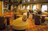 Bar interiors on cruise the ship — Stock Photo