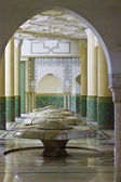 Ablution hall of the Mosque of Hassan II in — Stock Photo