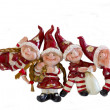 Dwarfs figurines isolate white — Stock Photo