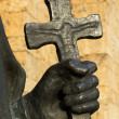 Hand and cross — Stock Photo #37309281