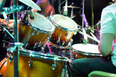 Drum кit on the stage — Stock Photo