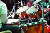 Drum кit on the stage — Stock Photo