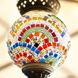 Turkish colorful mosaic lamps — Stock Photo
