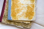 Two dirty old notebooks — Stock Photo