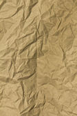 Wrinkled Brown Paper — Stock Photo