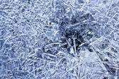 自然青い氷のクローズ アップ — ストック写真