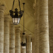 Piazza San Pietro Columns — Stock Photo