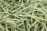 Green String Beans Display — Stock Photo
