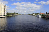 Fort Lauderdale, Florida Intracoastal Waterway — Stock Photo