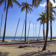 Stock Photo: Outrigger Canoe Rentals Fort Lauderdale Beach