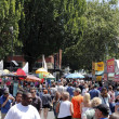 Many People at Saturday Market - Stock Photo