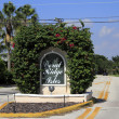 Entry Sign to Coral Ridge Isles - Stock Photo