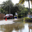 Flooded Streets, Victoria Park, Fort Lauderdale - Stock Photo