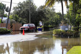Flooded Streets, Victoria Park, Fort Lauderdale — Stock Photo
