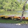 Stock Photo: Kayak Rentals