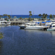 Stock Photo: Boats in Front of DaniBeach