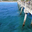 People Fishing Dania Beach Pier - Stock Photo